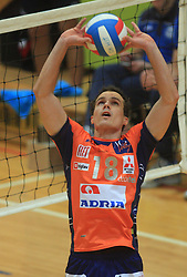 Rok Satler at finals of Slovenian volleyball cup between OK ACH Volley and OK Salonit Anhovo Kanal, on December 27, 2008, in Nova Gorica, Slovenia. ACH Volley won 3:2.(Photo by Vid Ponikvar / SportIda).