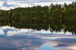 Lang Pond in Maine's Northern Forest. Cold Stream watershed, Parlin Pond Township.