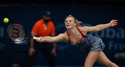February 19, 2019 - Dubai, ARAB EMIRATES - Katerina Siniakova of the Czech Republic in action during her second-round match at the 2019 Dubai Duty Free Tennis Championships WTA Premier 5 tennis tournament (Credit Image: © AFP7 via ZUMA Wire)