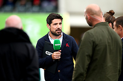 Craig Doyle presents the live coverage for BT Sport at Welford Road ahead of The Aviva Premiership Fixture between Leicester Tigers and Gloucester Rugby - Mandatory by-line: Robbie Stephenson/JMP - 16/09/2017 - RUGBY - Welford Road - Leicester, England - Leicester Tigers v Gloucester Rugby - Aviva Premiership