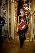 ANNA HESKETH,  Drinks the evening before the The 2008 Crillon Debutante Ball. Baccarat. Place des Etats-Unis.  Paris. 29 November 2008. *** Local Caption *** -DO NOT ARCHIVE-© Copyright Photograph by Dafydd Jones. 248 Clapham Rd. London SW9 0PZ. Tel 0207 820 0771. www.dafjones.com.