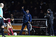 Northampton Town manager Jimmy Floyd Hasselbaink during the EFL Sky Bet League 1 match between Northampton Town and Shrewsbury Town at Sixfields Stadium, Northampton, England on 20 March 2018. Picture by Dennis Goodwin.