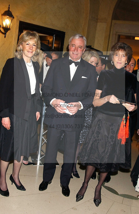 Left to right, RICHARD & MARY HAMBRO and LADY JANE SPENCER-CHURCHILL at A Riot - 1930's evening in aid of Great Ormand Street Hospital held at Claridge's, Brook Street, London on 31st January 2006.<br />
