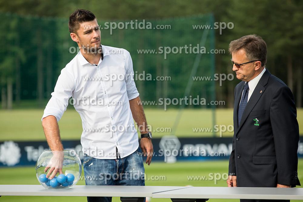 Rok Kronaveter and Andrej Zalar during NZS Draw for season 2016/17, on June 24, 2016 in Brdo pri Kranju, Slovenia. Photo by Vid Ponikvar / Sportida