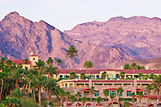 Furnace Creek Inn at dusk, Death Valley National Park. California