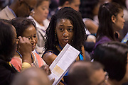 School leaders listen as Houston ISD superintendent Dr. Terry Grier addresses the Summer Leadership Institute at Reliant Center, June 18, 2013.