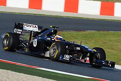18.02.2011, Circuit de Catalunya, Barcelona, ESP, Formel 1 Test 3 2011,  im Bild Rubens Barrichello (BRA),  Williams F1 Team EXPA Pictures © 2011, PhotoCredit: EXPA/ nph/  Dieter Mathis       ****** out of GER / SWE / CRO  / BEL ******