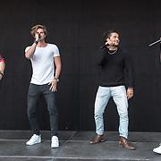 NLD/Hilversum/20180830 - Premiere GTST seizoen 29, Ferry Doedens, Everon Jackson Hooi, Joey Ferre, Dorian Bindels