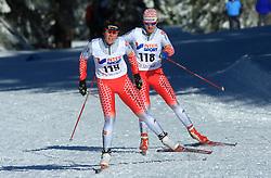 Slovenian cross-country skiers Mirjam Soklic and Maja Benedicic at 10th OPA - Continental Cup 2008-2009, on January 17, 2009, in Rogla, Slovenia.  (Photo by Vid Ponikvar / Sportida)