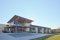 Architectural image of the Potomac upper School in Washington DC, built by Coakley Williams Construction, Photography by Jeffrey Sauers of Commercial Photographics