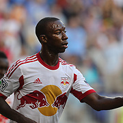 Bradley Wright-Phillips, New York Red Bulls, after scoring his sides first goal during the New York Red Bulls Vs Columbus Crew, Major League Soccer regular season match at Red Bull Arena, Harrison, New Jersey. USA. 12th July 2014. Photo Tim Clayton