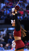 SAN DIEGO, CA - MARCH 16:  A New Mexico State Aggies cheerleader performs during a first round game of the Men's NCAA Basketball Tournament against the Clemson Tigers at Viejas Arena in San Diego, California. Clemson won 79-68.  (Photo by Sam Wasson)