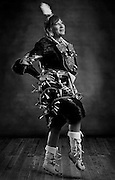 Chenoa Ben, Diné, jingle dress dancer from Low Mountain, Ariz.