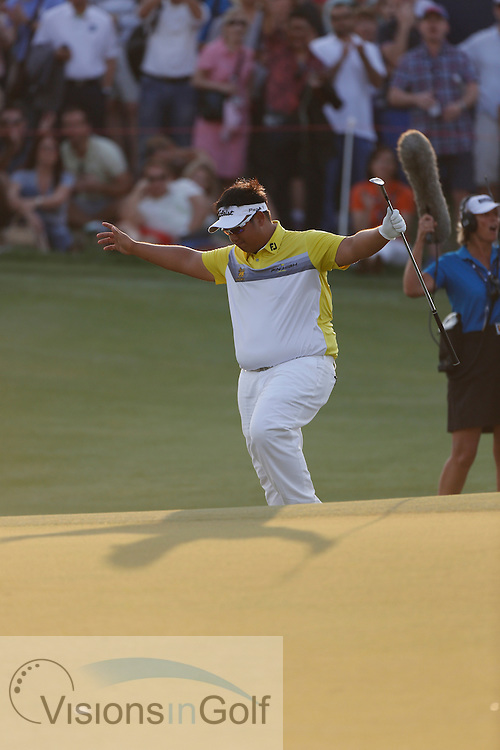 Kiradech Aphibarnrat<br /> during the second round of the Race To Dubai DP World Tour Golf Championship, Dubai, UAE November  2013<br /> Picture Credit:  Mark Newcombe / www.visionsingolf.com