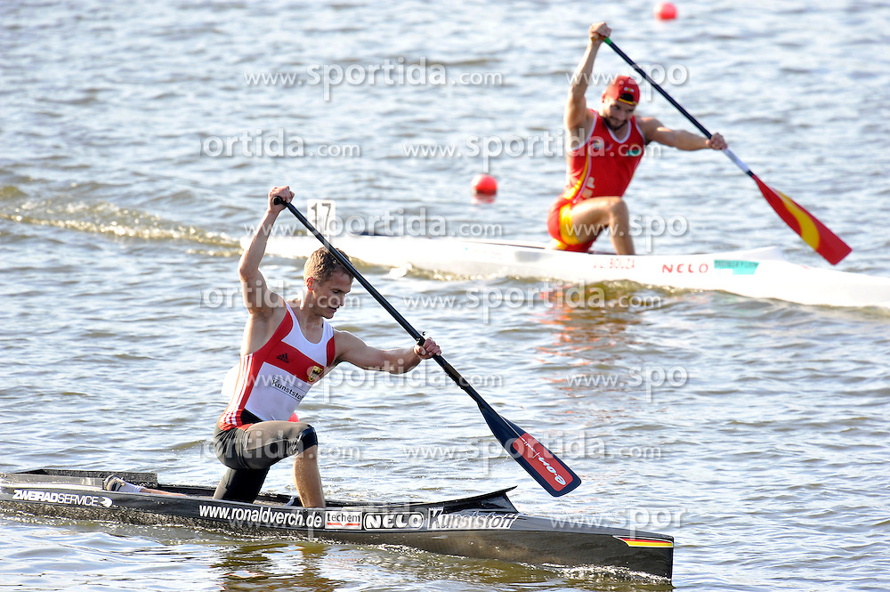 RONALD VERCH (GERMANY) COMPETES IN MEN'S C1 5000 METERS FINAL A RACE DURING 2010 ICF KAYAK SPRINT WORLD CHAMPIONSHIPS ON MALTA LAKE IN POZNAN, POLAND...POLAND , POZNAN , AUGUST 21, 2010..( PHOTO BY ADAM NURKIEWICZ / MEDIASPORT ).