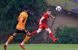 WOLVERHAMPTON, ENGLAND - Tuesday, December 19, 2017: Liverpool's Adam Lewis during an Under-18 FA Premier League match between Wolverhampton Wanderers and Liverpool FC at the Sir Jack Hayward Training Ground. (Pic by David Rawcliffe/Propaganda)