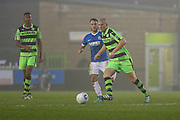 Forest Green Rovers Charlie Clough(5) plays a pass during the Vanarama National League match between Forest Green Rovers and Dover Athletic at the New Lawn, Forest Green, United Kingdom on 17 December 2016. Photo by Shane Healey.
