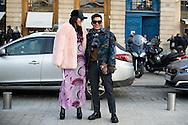 Tina Leung and Bryanboy at Schiaparelli SS2017