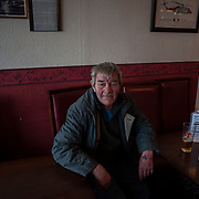 SHETLAND, SCOTLAND - APRIL 06, 2017: Laurence Laird, a Hillswick resident, during have an afternoon drink in a bar in Hillswick, a small town in the northern part of Shetland Mainland Island. Prompted by Brexit and the prospect of a second independence referendum for Scotland, the fiercely independent Shetland Islanders are once again engaged in the debate on independence and autonomy. CREDIT: Paulo Nunes dos Santos for The New York Times