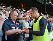 Charlie Adam signs an autograph for a fan - Crystal Palace v Dundee - Julian Speroni testimonial match at Selhurst Park<br /> <br />  - © David Young - www.davidyoungphoto.co.uk - email: davidyoungphoto@gmail.com