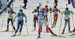 11.03.2016, Holmenkollen, Oslo, NOR, IBU Weltmeisterschaft Biathlon, Oslo, 4x6 Km Staffel, Damen, im Bild Magdalena Gwizdon (POL), start // during 4x6 km women relay of the IBU World Championships, Oslo 2016 at the Holmenkollen in Oslo, Norway on 2016/03/11. EXPA Pictures © 2016, PhotoCredit: EXPA/ Newspix/ Tomasz Jastrzebowski<br /> <br /> *****ATTENTION - for AUT, SLO, CRO, SRB, BIH, MAZ, TUR, SUI, SWE only*****