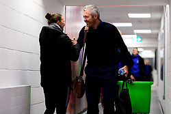 Loren Dykes of Bristol City shakes hands with Willie Kirk head coach of Everton Women  - Mandatory by-line: Ryan Hiscott/JMP - 17/02/2020 - FOOTBALL - Stoke Gifford Stadium - Bristol, England - Bristol City Women v Everton Women - Women's FA Cup fifth round