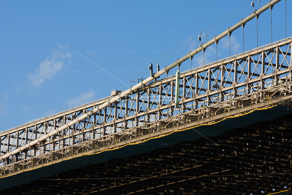 Brooklyn Bridge detail New York October 2008