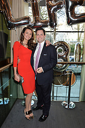 OLIVIA COLE and her brother HARRY COLE at the 3rd birthday party for Spectator Life magazine hosted by Andrew Neil and Olivia Cole held at the Belgraves Hotel, 20 Chesham Place, London on 31st March 2015.