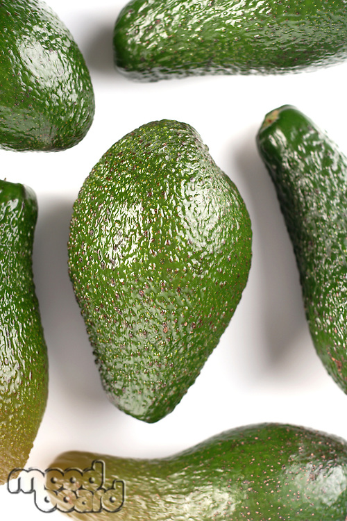 Avocado on white background - studio shot