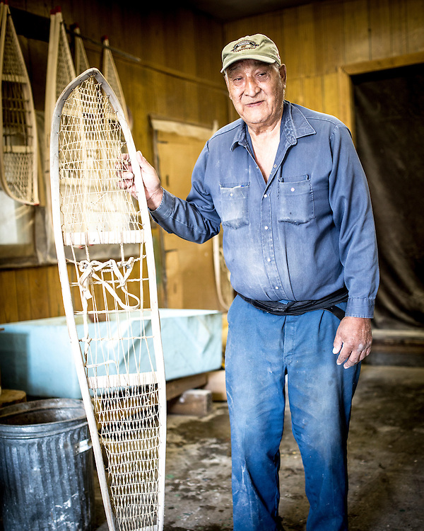 Doug Smarch has been crafting snowshoes for decades, and says there is nothing better at traversing the winter landscape.