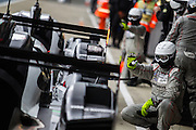 Porsche Team | Porsche 919 Hybrid pit stop | 2016 FIA World Endurance Championship | Silverstone Circuit | England |17 April 2016. Photo by Jurek Biegus.