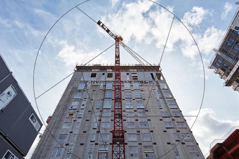 DLG-siloen Nordhavn, UNIONkul, ombygning af kornsilo til luksuslejligheder, Klaus Kastbjerg, , eksteriør, facader, betonfacader, kraner