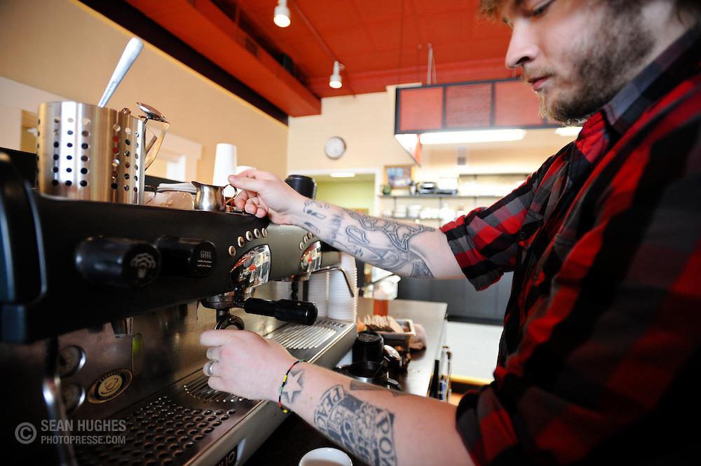 Nicholas Kemper at the new Bonbonerie Coffee Shop, 2030 Madison Rd.
