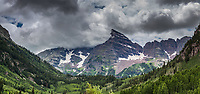Maroon Bells at White River National Forest, Pitkin Co, CO, USA, on 29-Jul-17