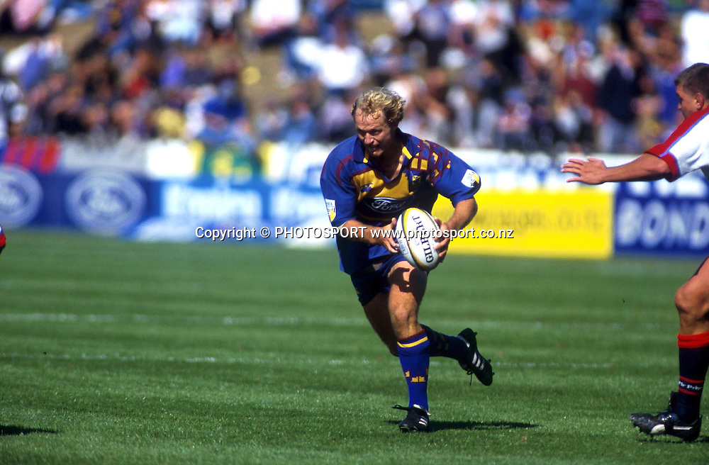 Tony Brown in action, Otago Highlanders, Super 12 rugby union, 1999. Photo: Scott Barbour/PHOTOSPORT
