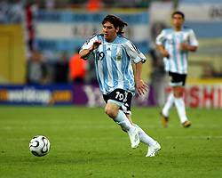 Lionel Messi in action for Argentina,  Argentina v Mexico (2-1) 24/06/06. World Cup 2006.