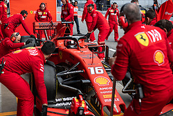 February 19, 2019 - Montmelo, BARCELONA, Spain - SPAIN, BARCELONA, 19 February 2019. Leclerc driver of Ferrari during the second day of winter test at Circuit de Barcelona Catalunya. (Credit Image: © AFP7 via ZUMA Wire)