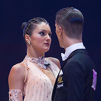 23 January 2010: Laure Colmard and Steeve Gaudet perform during the Masters Bercy Latin and Ballroom (standard) Dancesport Championship 2010, at Palais Omnisports Paris Bercy, in Paris, France. .