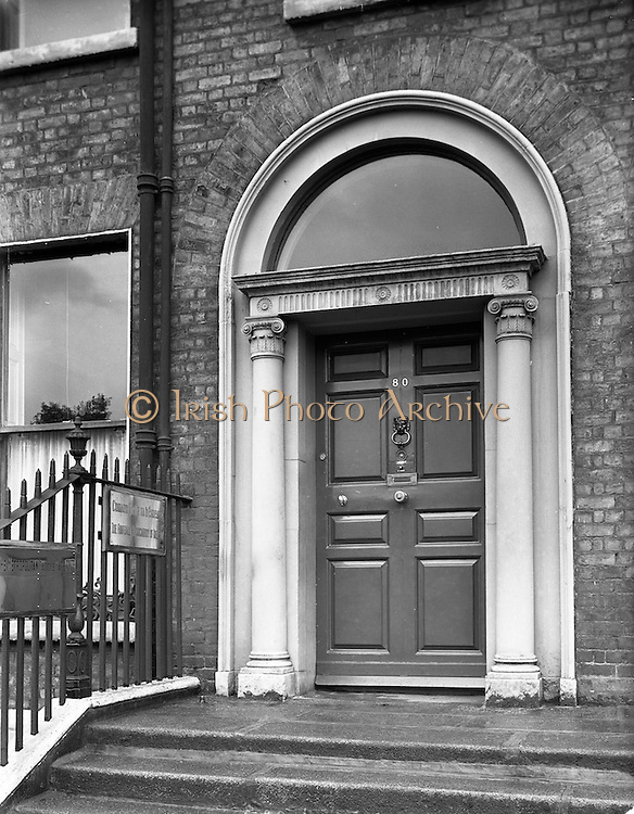 21/09/1960<br /> 09/21/1960<br /> 21 September 1960<br /> Football Association of Ireland Headquarters, 80 Merrion Square, Dublin. The entrance to the F.A.I. headquarters.