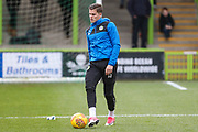 Forest Green Rovers Charlie Cooper(15) warming up during the EFL Sky Bet League 2 match between Forest Green Rovers and Luton Town at the New Lawn, Forest Green, United Kingdom on 16 December 2017. Photo by Shane Healey.