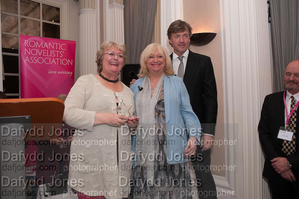 KATIE FFORDE; JUDY FINNIGAN; RICHARD MADELEY, Romantic Novelists Association The RoNas Awards - RICHARD MADELEY & JUDY FINNIGAN - ballroom of the RAF Club, 128 Piccadilly, London. 26 February 2013