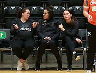 Maja Jakobsen, Jessica Quintino og Mie Højlund før semifinalen i HTH Dameligaen mellem Herning-Ikast Håndbold i IBF Arena, Ikast, Danmark, den 01.05.2019. Photo Credit: Allan Jensen/EVENTMEDIA.