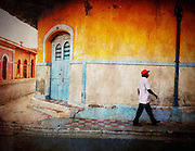 Painted buildings in Granada Nicaragua