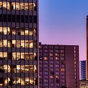 Sunset scene from downtown Kansas City in October 2010.