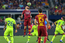 July 31, 2018 - Arlington, TX, U.S. - ARLINGTON, TX - JULY 31: AS Roma midfielder Daniele De Rossi (16) heads the ball during the International Champions Cup between FC Barcelona and AS Roma on July 31, 2018 at AT&T Stadium in Arlington, TX.  (Photo by Andrew Dieb/Icon Sportswire) (Credit Image: © Andrew Dieb/Icon SMI via ZUMA Press)