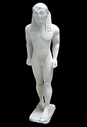 Greek Kouros (youth) from Delphi, Greece circa 570 BC. A kouros (plural kouroi, is the modern term given to those representations of male youths which first appear in the Archaic period in Greece. The term kouros,  was first proposed for what were previously thought to be depictions of Apollo by V. I. Leonardos in 1895