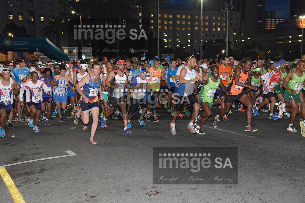 CAPE TOWN, SOUTH AFRICA - MAY 08, General view of the start during the Slave Route Challenge held in Cape Town CBD on May 08, 2016 in Cape Town, South Africa. ( Photo by Sharief Jaffer/ ImageSA )
