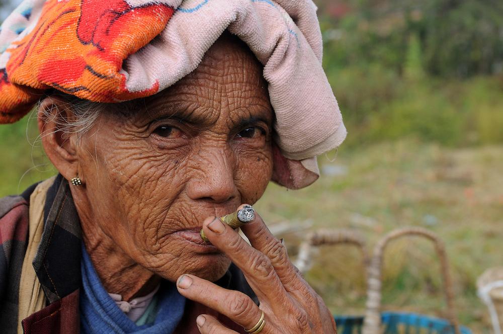 Intha tribal woman on Inle lake, Mynamar
