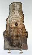 Assyrian head statue. (circa 710-705 BC). Taken from Khorsabad. From a Šedu, A protective spirit statue used to guard palace doorways.