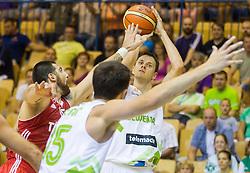 Bostjan Nachbar of Slovenia during friendly match between National teams of Slovenia and Turkey for Eurobasket 2013 on August 4, 2013 in Arena Zlatorog, Celje, Slovenia. (Photo by Vid Ponikvar / Sportida.com)